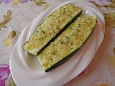 Gebackene Zucchini mit Knoblauch