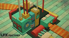 My Factory. Cinema4d sketch render