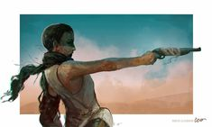 Freestyle on Behance Mad Max Fury Road, Charlize Theron, Imperator Furiosa, Wasteland Weekend, Female Reference, D D Characters, 2d Art, Character Illustration, Art Google