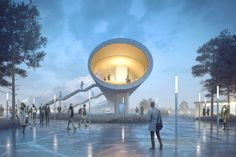 Winning Design for Copenhagen's Køge North Train Station is a Spectacular Tubular Bridge