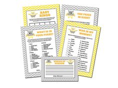 Owl Baby Shower Games INSTANT DOWNLOAD by perfectcelebrations
