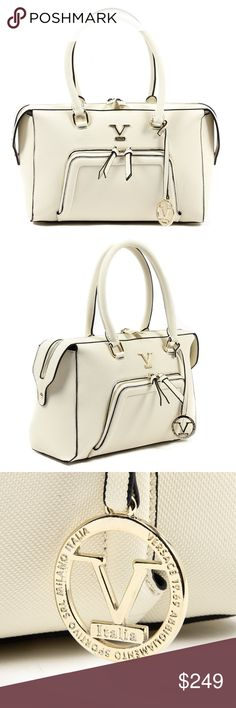 🌸REDUCED Versace 1969 Italia Womens Handbag Beige Color: Beige Size: ONE SIZE Made of: 100% SYNTHETIC LEATHER By Versace 19.69 Abbigliamento Sportivo Srl Milano Italia -  Details: VE038 BEIGE -  Color: Beige -  Composition: 100% SYNTHETIC LEATHER -  Measures (Width-Height-Depth): 33x23x13 cm -  Made: TURKEY - Front Logo - Two Handles - Zip Closure - Logo Inside - Two Inside Pocket - One Inside Zip Pocket Versace Bags