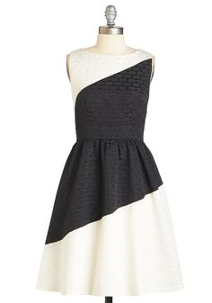 Ivy and Blu Envisioning Elegance Dress. Youve been imagining how it would feel to slip into this colorblocked dress by Ivy and Blu, and youve got to admit - reality is better than you ever expected! #white #modcloth