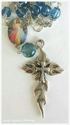 Vehicle Rosary - Divine Mercy Like us on Facebook;  Beads, Baubles & Blessings Etsy shop;  beadsbaublesblessing