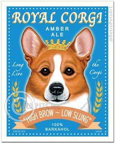 Corgi Cards Royal Corgi 6 Small Greeting Cards by Krista Brooks