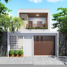 Confira mais uma proposta de fachada😍 Projeto: @thailita.arq _ QUEM GOSTOU COMPARTILHE E NOS MARQUE -- Confira os IGs: @grupoaguero 🗝… House Front Design, Home, Home Hacks, Minimalist Home, House Styles, 2 Storey House Design, Sweet Home, Beautiful Homes, House Designs Exterior
