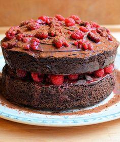 Chocolate Raspberry Gateau by Karen Burns-Booth