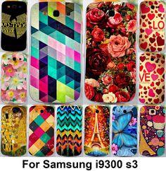 soft tpu hardplastic Flower Phone Cases For Samsung Galaxy S III S3 GT-i9300 4.8 inch i9300 I939D DUOS i9300i SIII Neo+ Cases