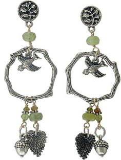 Tiny Songbird Silver Charm, branch silver links, and silver leaf charms from Nina Designs® are causing quite a stir.  Stop by and see why!