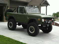 Lifted and restored Bronco
