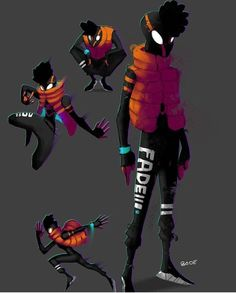 Resplendent Cartoon Drawing Tips Ideas Spider Art, Spider Verse, Black Anime Characters, Cartoon Characters, Character Concept, Character Art, Spiderman Suits, Superhero Design, Marvel Art