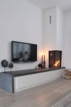 Home Fireplace, Modern Lounge, Home And Living, Kitchen Room Design, Living Room Decor Fireplace, Home, Living Room Tv, Living Room Lounge, Living Room With Fireplace