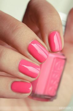 Think pink and make a fashionable statement with essie nail polish. Nail Design, Nail Art, Nail Salon, Irvine, Newport Beach