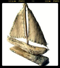 Driftwood Sailboat by purestylecrafts on Etsy, £15.00