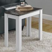 With its fresh white finish and faux marble top, the Monarch Rectangular White Wood Accent Side Table with Grey Marble Top is just what your living. Black Accent Table, Marble End Tables, White Side Tables, Wood Accents, White Wood, Decor Interior Design, Furniture Decor, Decorating Your Home, Home Furnishings