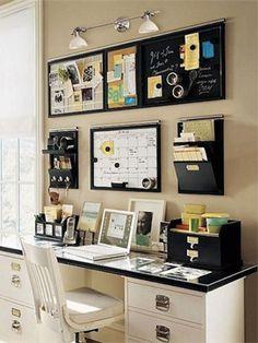 Organize a rotina com a ajuda da sua parede do escritório.