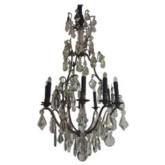 Gilt Bronze and Crystal Chandelier, France | From a unique collection of antique and modern chandeliers and pendants at https://www.1stdibs.com/furniture/lighting/chandeliers-pendant-lights/