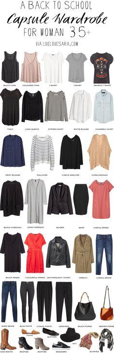 Back to School wardrobe over 35 #capsule #capsulewardrobe #overthirty…