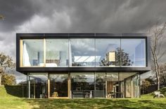 Glas; openness; simplicity Modern Rural Home Exterior