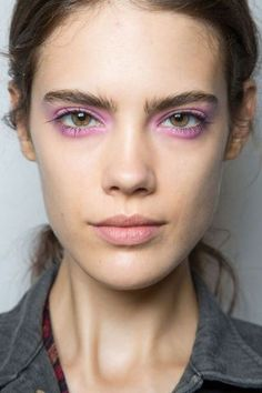 Skip the eyeliner and use pastel eye shadows on top and bottom of your eyes with a dash of mascara for a dynamic look for spring!