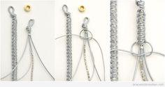 Voici un tuto pour fabriquer un bracelet avec du fil de cuir et perles metalliques très simple. Suivez le pas a pas pour avour ce bracelet si cool! On l'aconseille pour les debutants.  <!-- w…