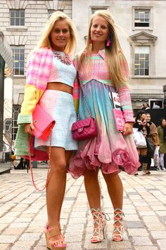 Name:Jill De Greef (left) and Freya Poppe (right) Occupation: Co-own a boutique in Belgium. What are you wearing? Both outfits are own bran...