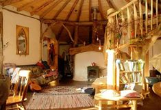 The interior of the hobbit house