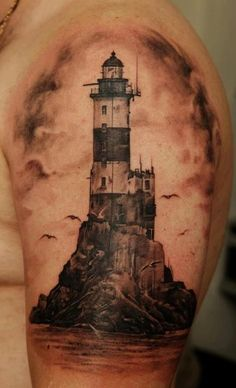 I'm still planning on the lighthouse themed tattoo for my mom.  I came across this one...which is awesome!!