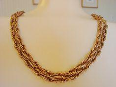 Chunky 52 MONET Vintage Multiple Link Chain Necklace by joysshop, $12.95