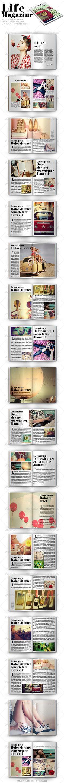 Life Magazine - #Magazines Print #Templates Download here: https://graphicriver.net/item/life-magazine/8108059?ref=alena994