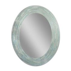 Deco Mirror, 29 in. L x 23 in. W Reeded Sea Glass Oval Wall Mirror, 1206 at The Home Depot - Mobile