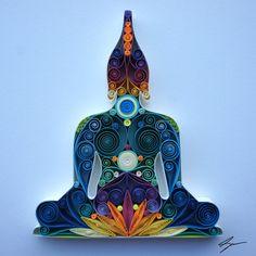 Arte de papel tubulares: Buda por SenaRuna en Etsy