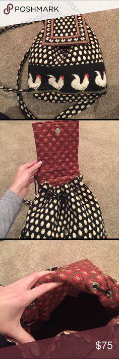 Vintage Limited Edition Chicken Print Purse Vera Bradley Limited Addition Chicken Pattern Backpack Vera Bradley Bags Backpacks