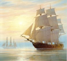 Old Sailing Ship Paintings | Pauline's Pirates & Privateers
