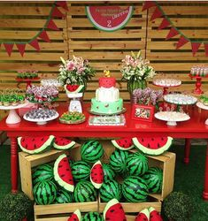 Ver esta foto do Instagram de @decorefesta • 3,033 curtidas Watermelon Party Decorations, Watermelon Birthday Parties, 1st Birthday Party For Girls, Girl Birthday Themes, Fruit Party, Baby Party, 2nd Birthday, First Birthdays, Party Time