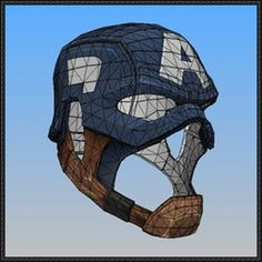 Captain America WWII Helmet Papercraft Free Template Download