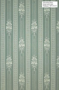 Wallpaper for Traditional Home - to - Edwardian Stripe--attic bedroom Textile Pattern Design, Textile Patterns, Textile Prints, Pattern Art, Fabric Design, Print Design, Print Patterns, Fabric Wallpaper, Pattern Wallpaper