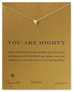 """Dogeared You Are Mighty Necklace, 18"""" 