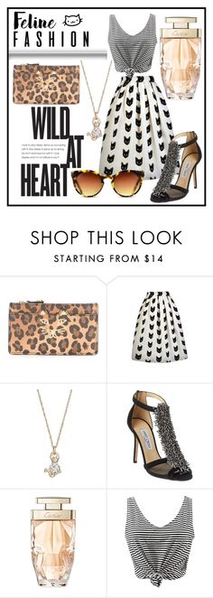 """""""wild at heart"""" by cyn-d ❤ liked on Polyvore featuring Charlotte Olympia, LC Lauren Conrad, Jimmy Choo, Cartier and WithChic"""