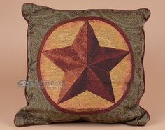 This is a beautiful western pillow with rustic star design. This designer pillow is very luxurious and very soft. A match for our Rustic Star Throw Blanket, it is a perfect accent for southwest decor,