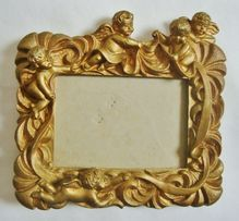 Sweet Vintage Picture Photo Frame With Cherubs Putti Angels