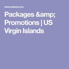 Packages & Promotions | US Virgin Islands