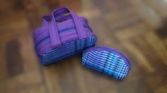 Toilet and Cosmetics Bag Set by gogothabo on Etsy