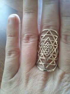 Hey, I found this really awesome Etsy listing at https://www.etsy.com/listing/172755770/sri-yantra-ring-in-solid-brass-sacred