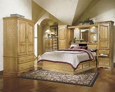 masterpiece oak bedroom pier group