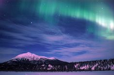 The lights are most common during the autumn months of September and October and then again in March and April because of the Earth's tilt in relation to the Sun. #Alaska is easily the best place in the United States to witness the breathtaking light show. This photograph displays the dazzling Northern Lights over Wiseman, #Alaska.