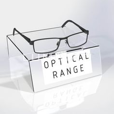 22c830298f5 Feature glasses mini - plinth. Clear acrylic with branding on front face.  Designed and · Frame ...