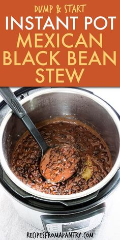 Dump and Start Instant Pot Black Beans Stew is easy to make & full of amazing Mexican flavor! This no soak Instant Pot Black Beans recipe is an affordable great side or main dish made with pantry ingredients. Making a batch of delicious versatile black beans from scratch is the perfect meal prep solution & for cinco de mayo, potlucks & picnics. Click through to get this awesome mexican black beans stew recipe!! #instantpot #instantpotrecipes #instantpotblackbeans #pressurecooker… Black Bean Stew, Black Beans, Best Instant Pot Recipe, Instant Pot Dinner Recipes, Instant Pot Pressure Cooker, Pressure Cooker Recipes, Appetizer Recipes, Lunch Recipes, Bean Recipes