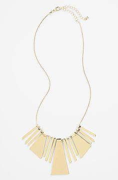 BP. Pieced Metal Bib Necklace (Juniors)