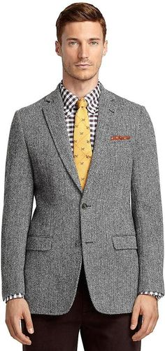 Fitzgerald Fit Harris Tweed Herringbone Sport Coat
